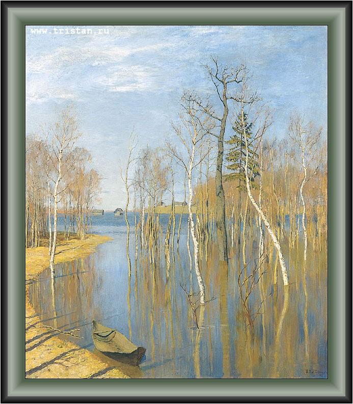 Левитан и и картина весна большая